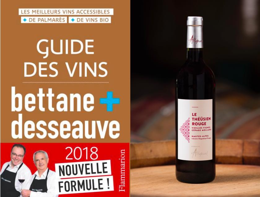 Nos vins sélectionnés par le Bettane & Desseauve 2018 !